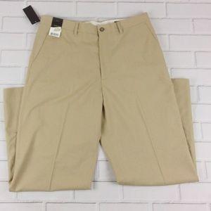 Claiborne 34X30 Dress Pants/Slacks Flat Front Tan